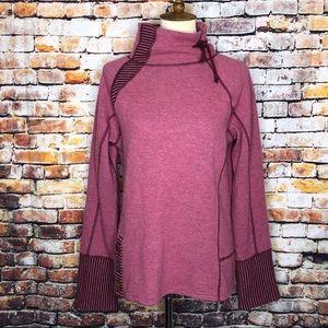 Prana Lucia Sweater Wool Blend Turtleneck